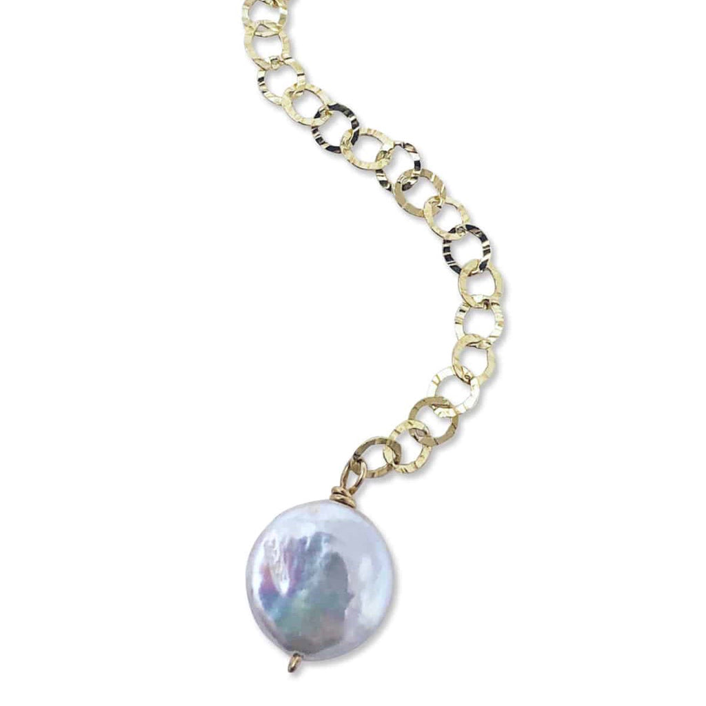 Silver Labradorite Solo Dancer Necklace