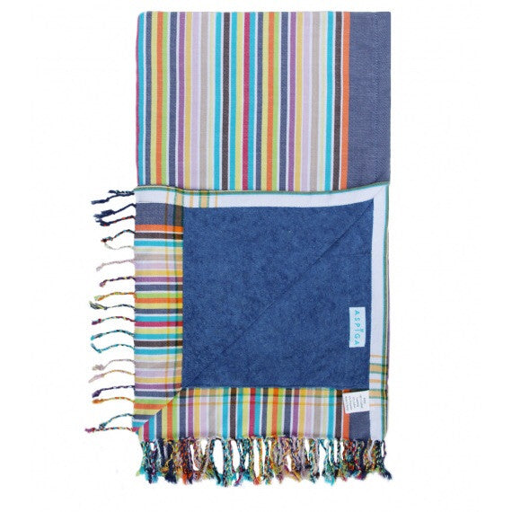 Blue Navy Kwale Kikoy Towel