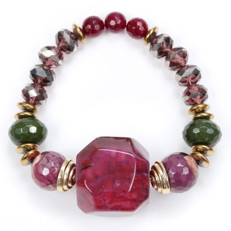 Red Mulberry Stone Bracelet