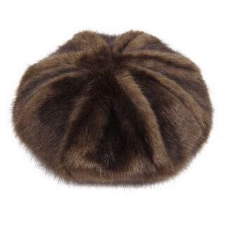 Brown Treacle Faux Fur Beret