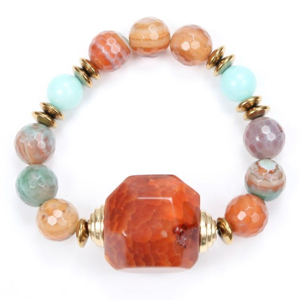 Orange Tumeric Stone Bracelet