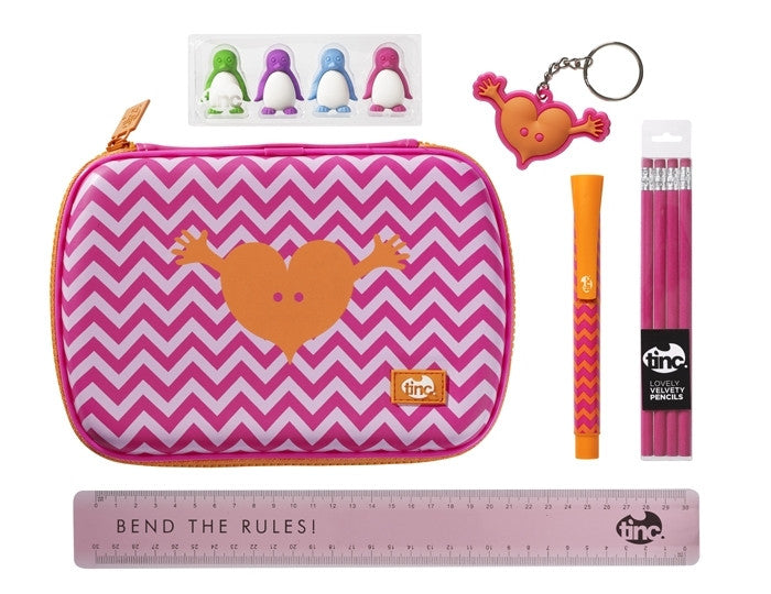 Pink Tinc Geometric School Stationery Set