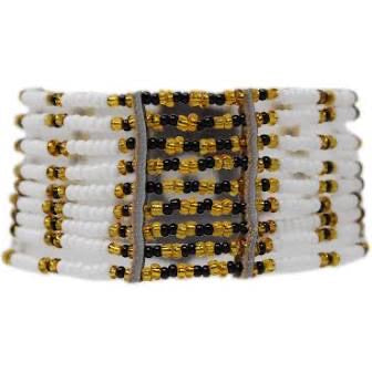 White Kitui Beaded Maasai Bracelet