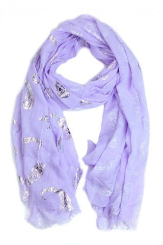 Lilac Shimmer Scarf