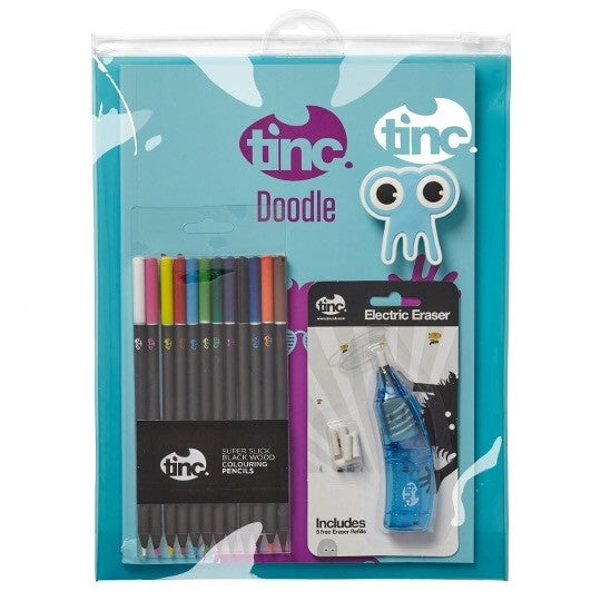 Blue Tinc Electric Eraser Colouring Gift Set