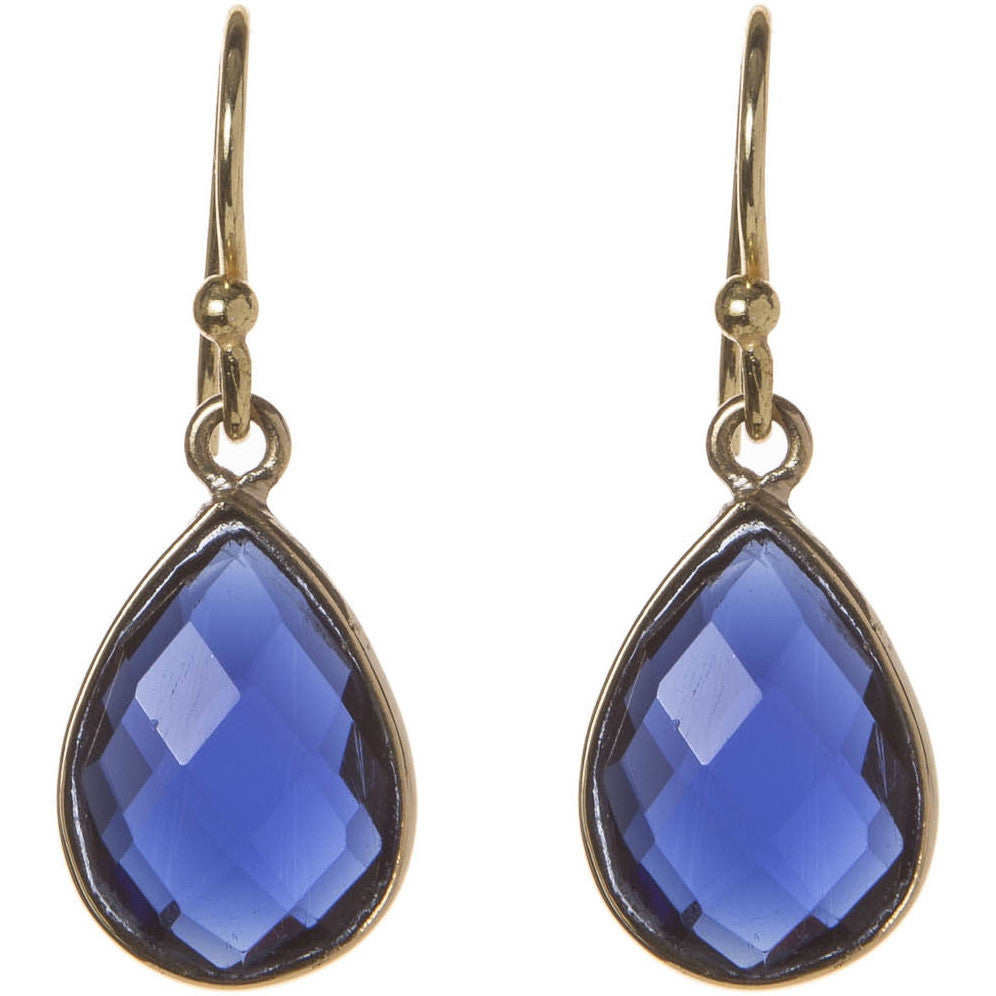 Semi-Precious Iolite Drop Earrings