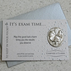 It's Exam Time Carded Pocket Charm