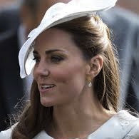 Kate Middleton wearing Aqua Chalcedony Earrings