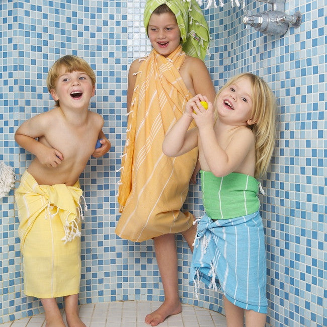 Kids Red Cotton Hammamas Towel