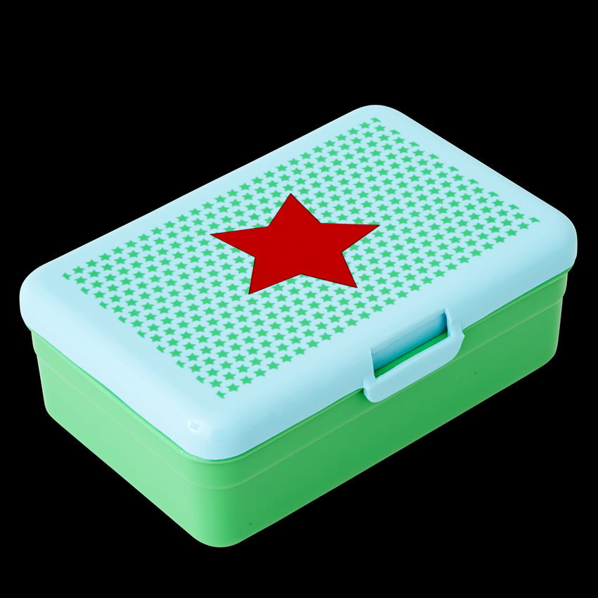 Kids Green Lunch Box with Star Print