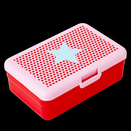 Kids Red Lunch Box with Star Print