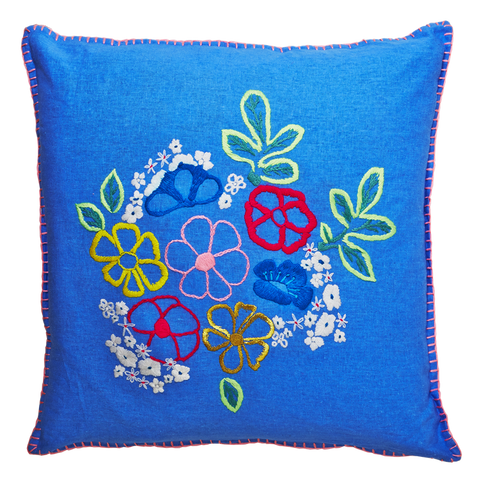 Hand Embroidered Cushion Cover 60cm