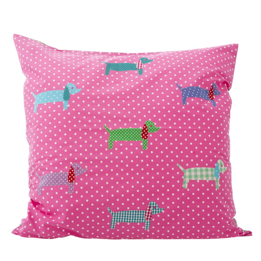 Large Pink Dachshund Cushion Cover 60cm