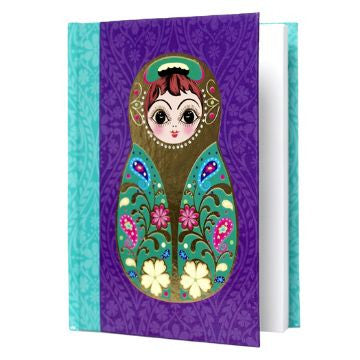 Large Purple Babushka Notebook