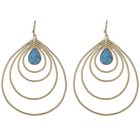 Large Turquoise Teardrop Earrings