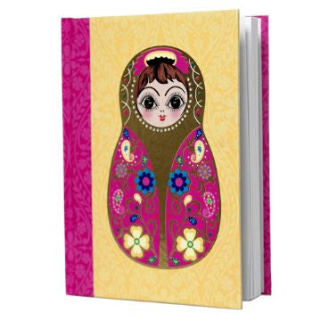 Large Yellow Babushka Notebook