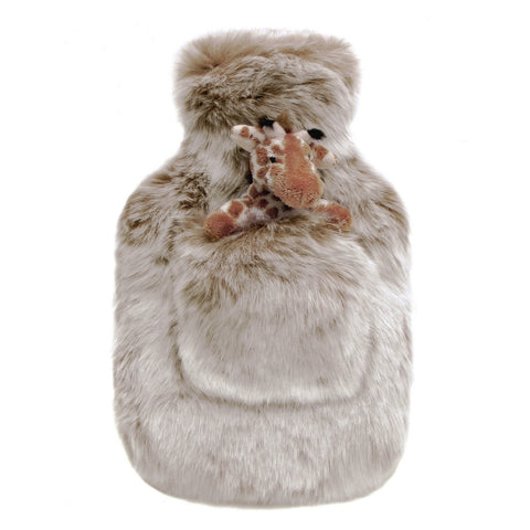 Latte Faux Fur Children's Hot Water Bottle