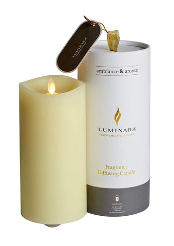 Luminara Fragranced Diffusing Candle With Remote & Jasmin & Neroli Fragrance Pod