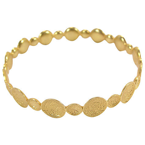 Gold Plated Crater Bangle