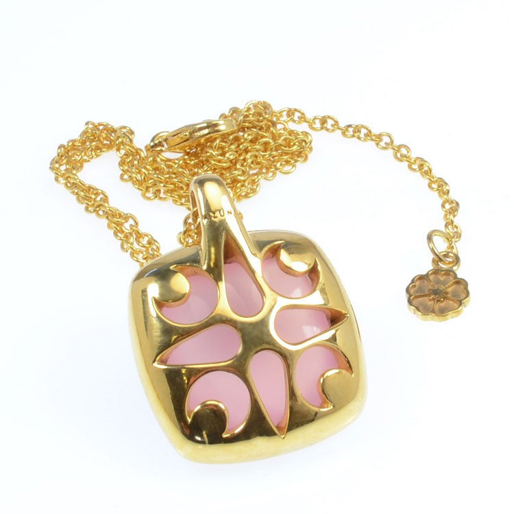 Pink Chalcedony Pendant Necklace
