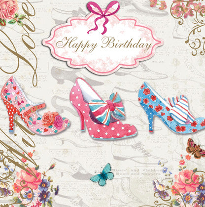 Vintage Shoes Happy Birthday