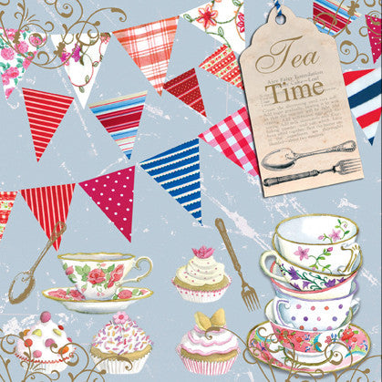 Vintage Tea Time Happy Birthday