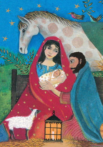 Nativity Scene Christmas Cards - Pack of 5