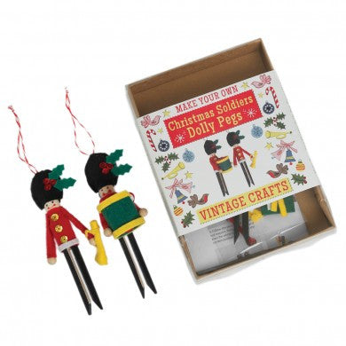 Make Your Own Dolly Peg Xmas Soldiers