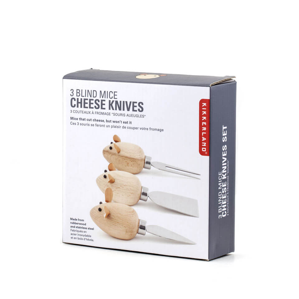Set of 3 Mice Cheese Knives