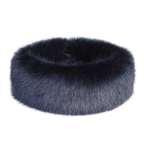 Midnight Faux Fur Huff