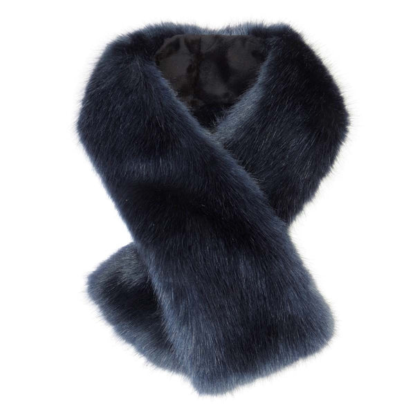 Midnight Faux Fur Tippet Scarf
