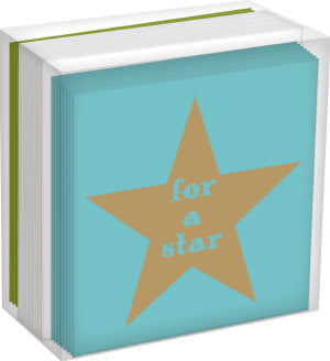 Star & Tree Mini Christmas Cards - Box of 16