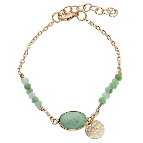Mint Semi-Precious Friendship Bracelet