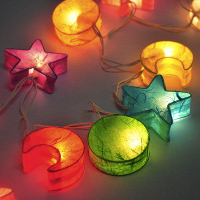Mixed Stars & Moons String Lighting