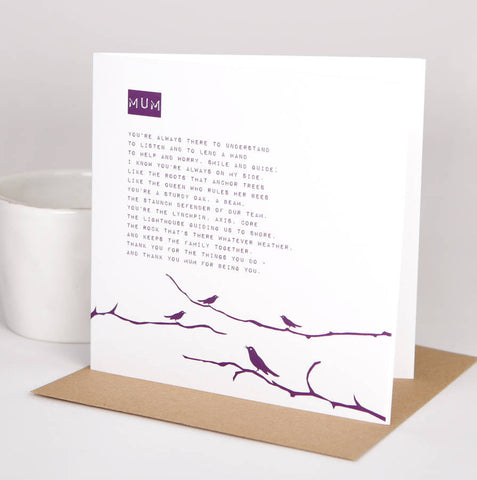Mum Poem Card