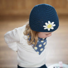 Daisy Crochet Hat and Bandana Bib