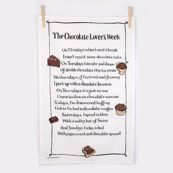 Tea Towel - The Chocolate Lovers Week