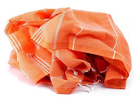 Orange Hammamas Cotton Towel/Wrap