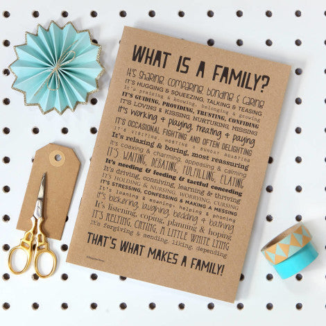 Family Poem Slim Notebook