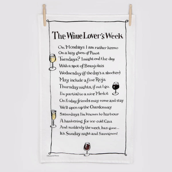 The Wine Lovers Week Poem Print