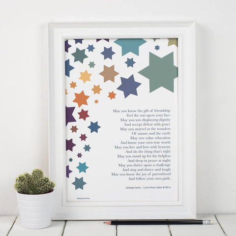 Wishes For A Child Poem Print