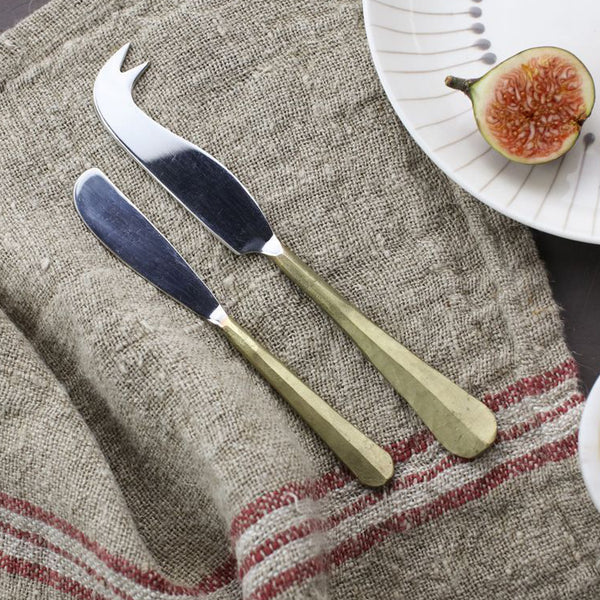Osko Cheese & Butter Knife Set Gold
