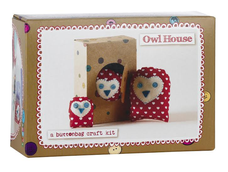 Red Owls Sewing Kit
