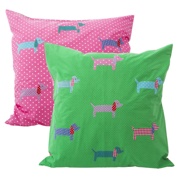 2 Large Dachshund Cushion Covers 60cm