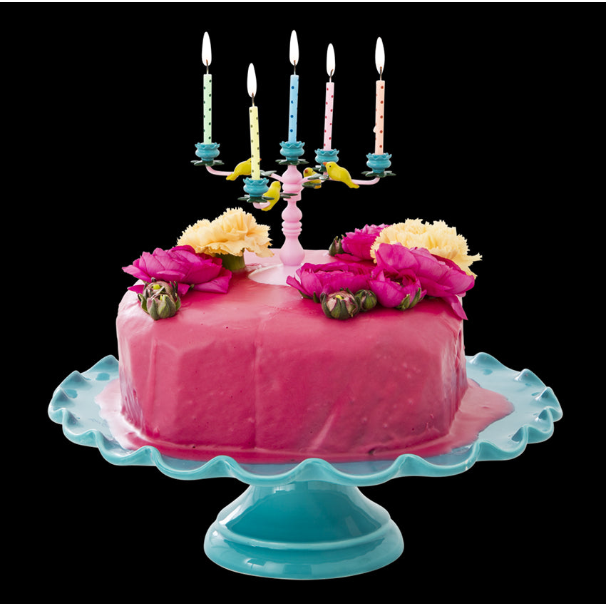 Pink Candelabra Cake Decoration