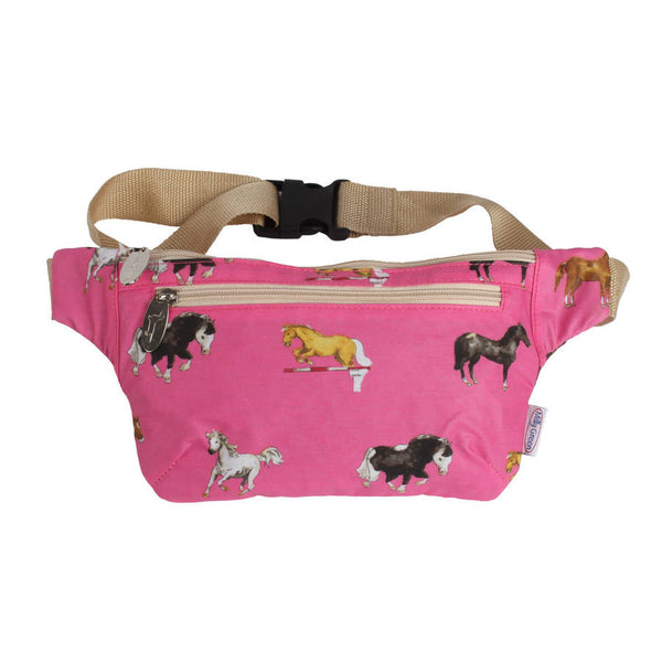 Hot Pink Horses Bum Bag