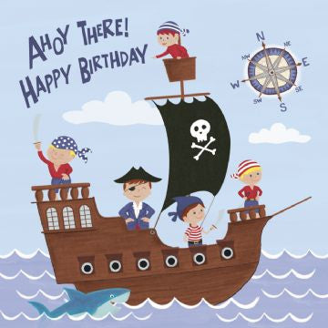 Pirate Birthday Card Indigo Blue Trading