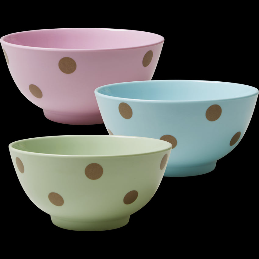 Melamine Bowls with Polka Dots