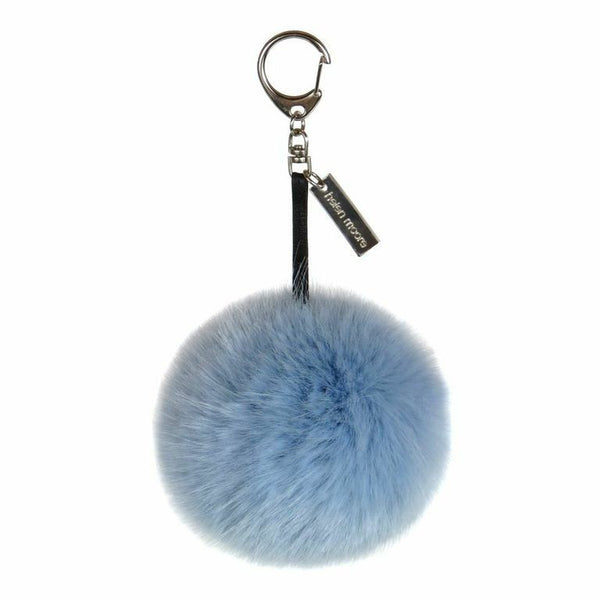 Powder Blue Faux Fur Pom Pom Keyring