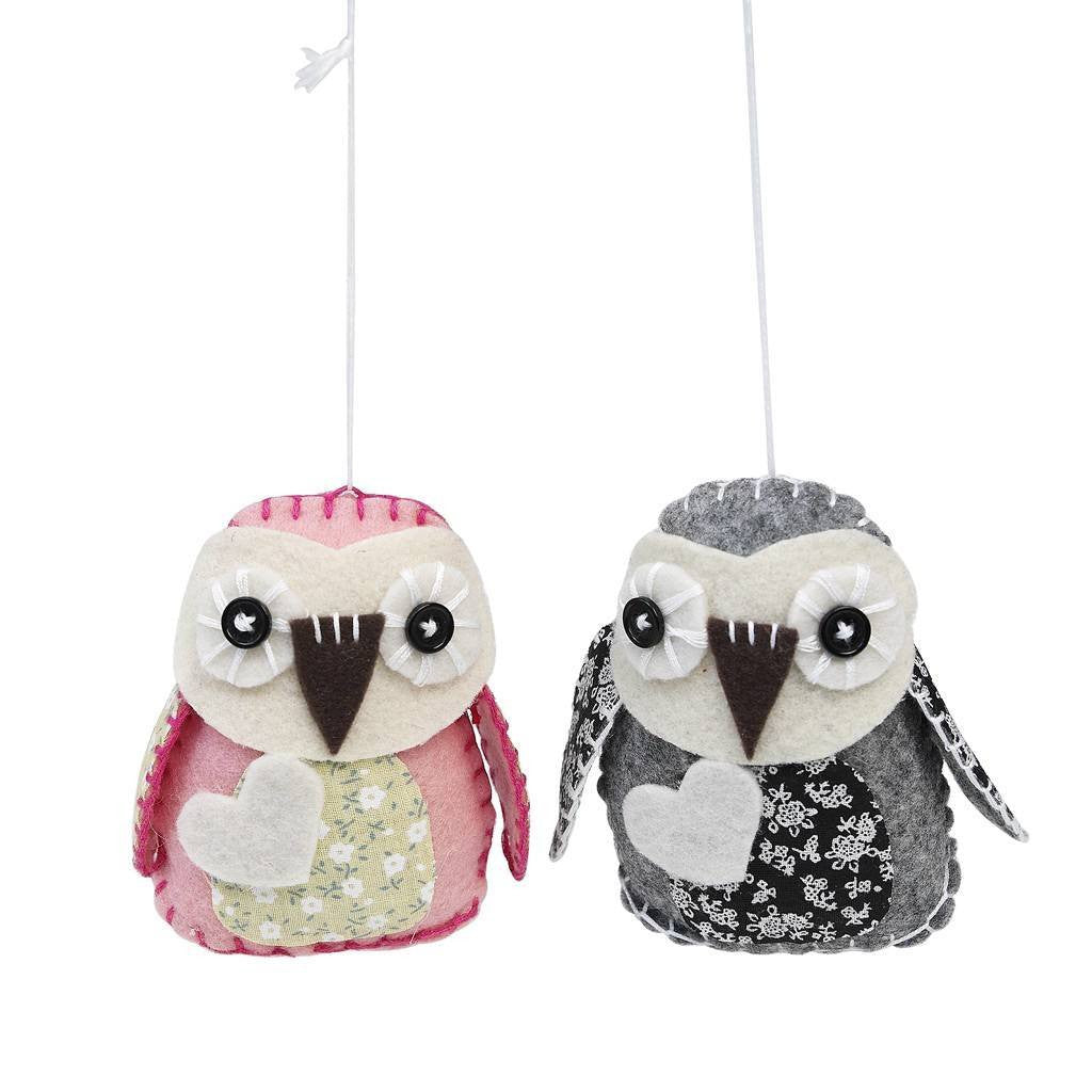 Make Your Own Feltcraft Pretty Owls Craft Kit